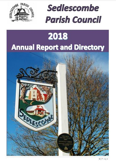 2018 annual report cover for sedlescombe parish council